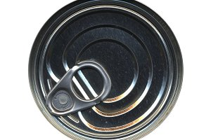 Canned food tin can top