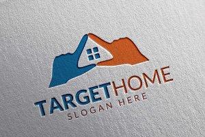 Target Home Logo, Real estate Logo