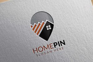 Home Pin Logo, Real estate logo
