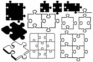 Contours and silhouettes Puzzle