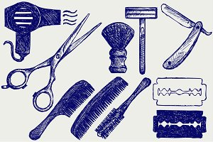 Tools for hair-cutting and shaving