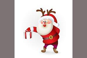 Santa Claus giving Christmas