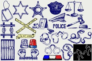 Law enforcement agencies, police