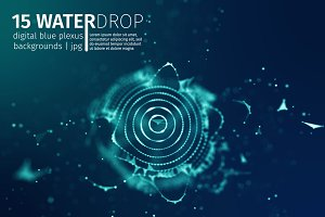 15Blue Abstract Background|WATERDROP