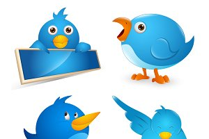 Twitter Birds Vector Illustrations
