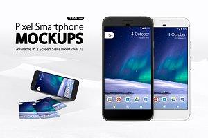 Pixel Smartphone Mockups