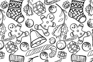 Christmas toy pattern