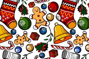Christmas colored toy pattern