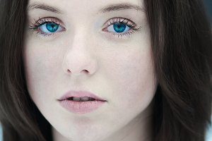 portrait of blue-eyed girl