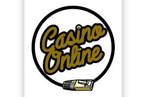 Color vintage online casino emblem