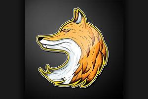 Fox color emblem