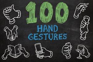 100 Hand Gestures