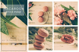 Macaroon stock images pack