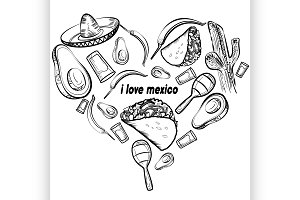 Mexico love set