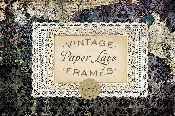 Vintage Paper Lace Frames No. 5