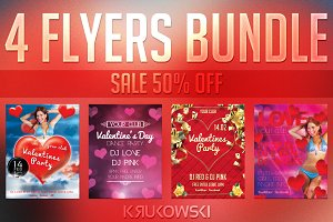 Valentines Flyer Templates Bundle