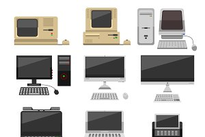 Computer technology vector evolution