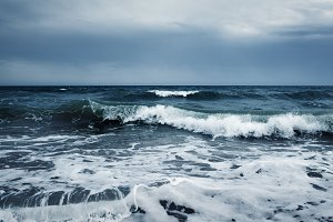 ocean storm wave