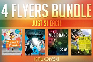$1 Flyers Template Bundle vol. 1