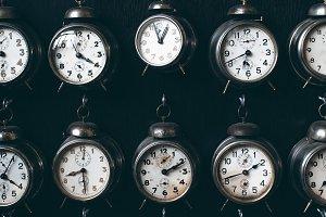 many retro alarm clocks