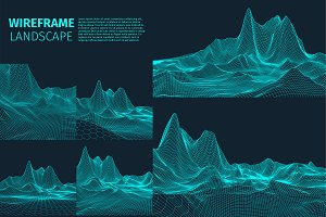 Abstract vector landscape background