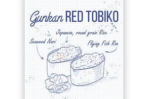 Gunkan Red Tobiko