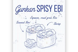 Gunkan Spicy Ebi