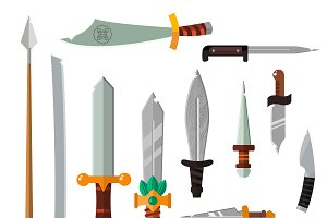 Vector steel knifes collection