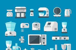 Home appliances vector set