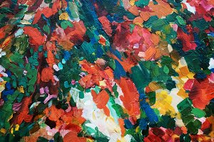 abstract colorful oil painting