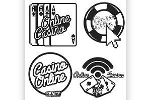 Vintage online casino emblems