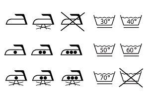 Ironing laundry symbols