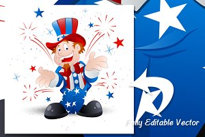 4th of july cartoon - Uncle Sam