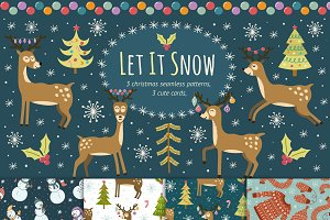 Let It Snow: patterns & cards