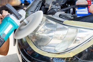 Car lamp polishing