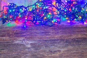Christmas multicolored lights