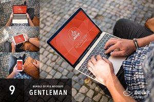 9 PSD Mockups Gentleman