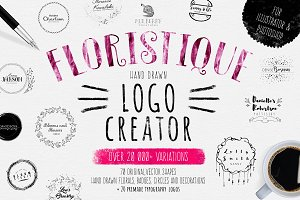 Floristique-Hand Drawn Logo Creator