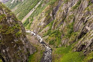 River and Deep Valley in Norway