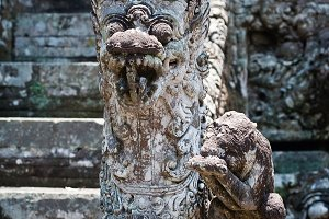 Architecture in Monkey forest, Bali