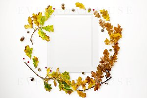 Autumn Inspired Frame Mockup