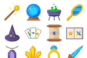 Magic icons vector collection