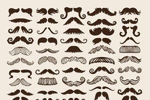 Silhouette vector mustache