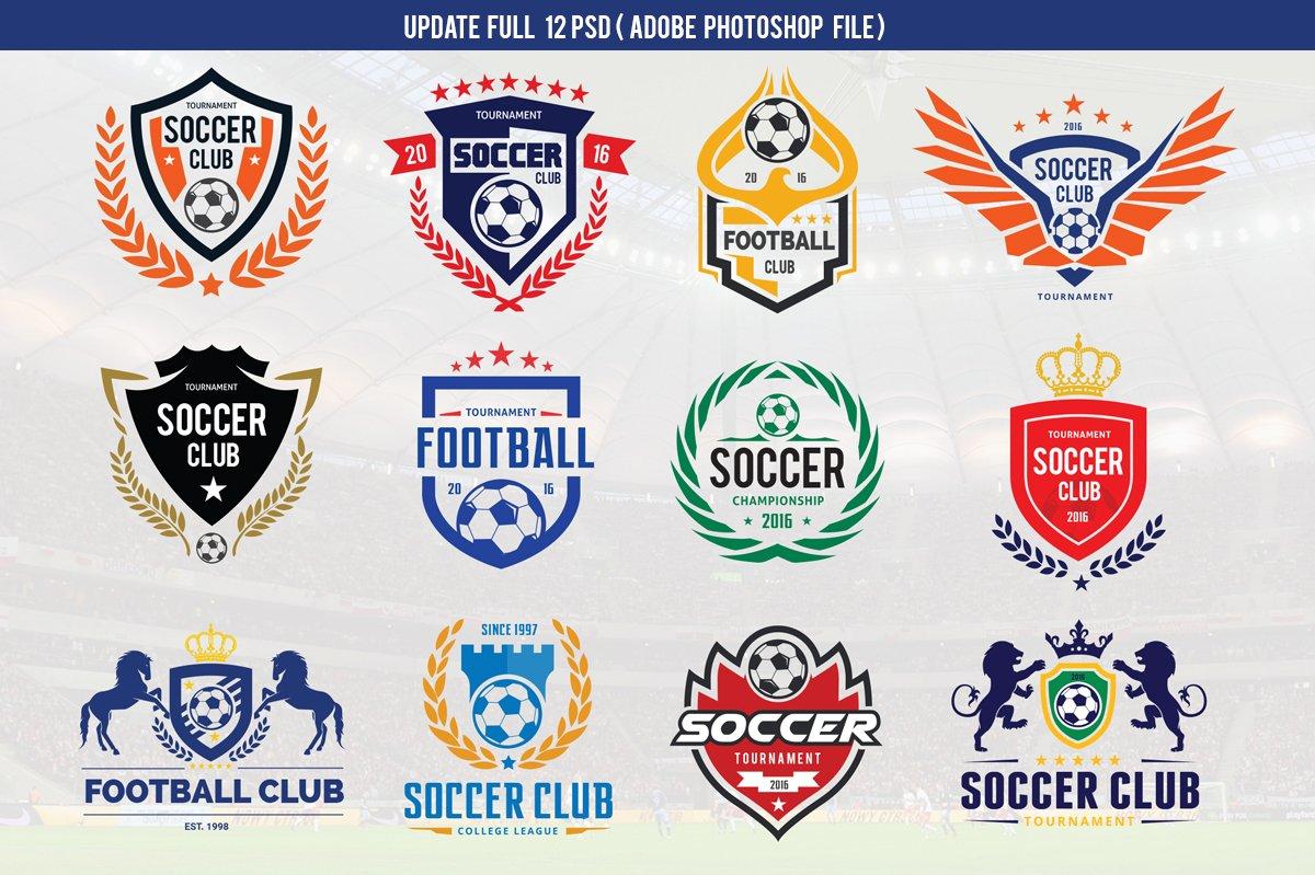 Football Logo Set Vectorpsd Logo Templates Creative Market