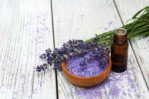Lavender oil and massage salt