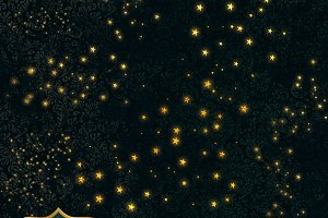 Golden Starry Swashes PNG Clipart