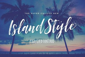Island Style Brushed Font Duo