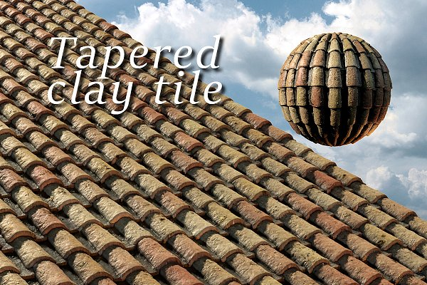 3D Tile: Sun Studio - Tapered clay tile or spanish roof