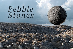 Pebble stones texture set