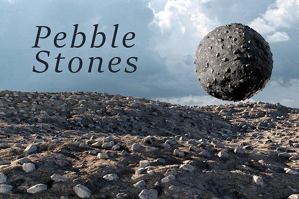 3D Rock: Sun Studio - Pebble stones texture set